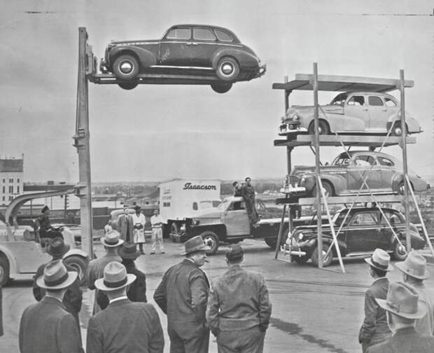 Если вам трудно найти место для парковки сегодня, то посмотрите, как нелегко это было в 1950-х парковка, прошлое, трудности, фото