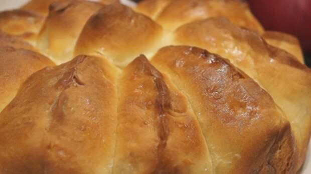 """Яблочный Пирог """"Ломтик"""". Отрывной пирог с нежными булочками-лепестками"""