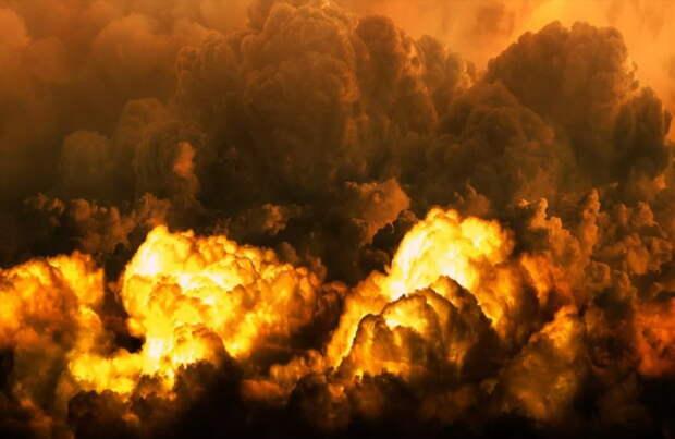 В Башкирии тушат пожар на газопроводе