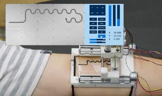 Создан принтер для нанесения электроники на кожу
