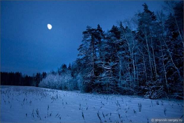 Зима декабрь самая длинная ночь луна