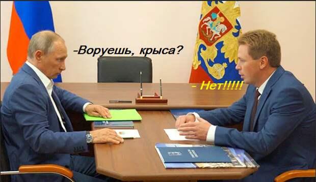 Экс-губер  против Путина