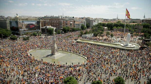 В Мадриде началась акция против помилования каталонских политиков