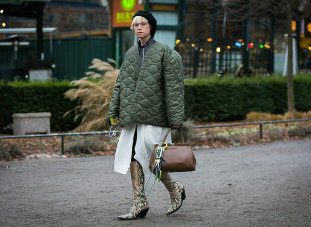 Осенний образ со стеганой курткой. /Фото: images.lady.mail.ru