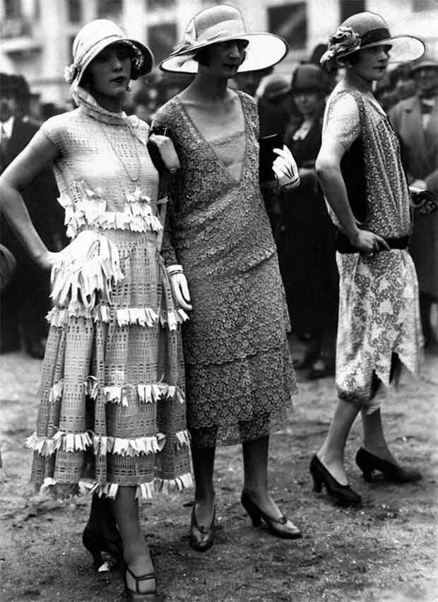 Париж, 1925 год Стиль, винтаж, двадцатые, женщина, мода, прошлое, улица, фотография