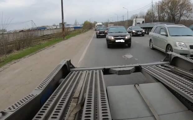 Рязанский блогер проехал в прицепе грузового автомобиля