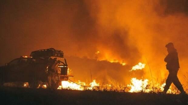 Крупный лесной пожар к западу от Афин не могут потушить третьи сутки