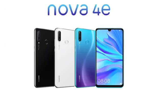 Анонсирован молодежный смартфон Huawei Nova 4e с челкой