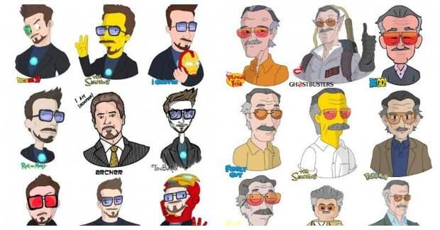 Итальянский художник превращает знаменитостей мультяшных персонажей