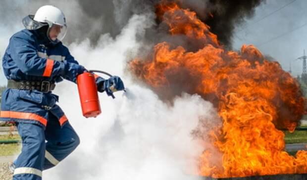 4 раза засутки пожарные тушили мусор вНижнем Тагиле ипригороде