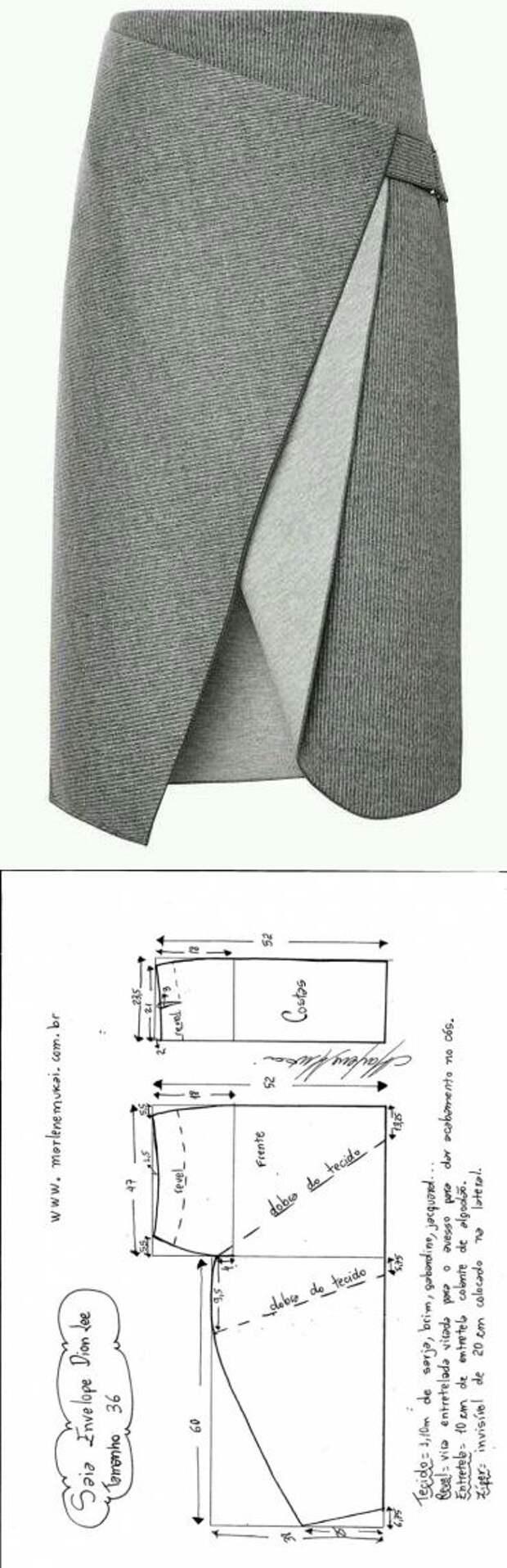 Юбки с запахом (подборка)