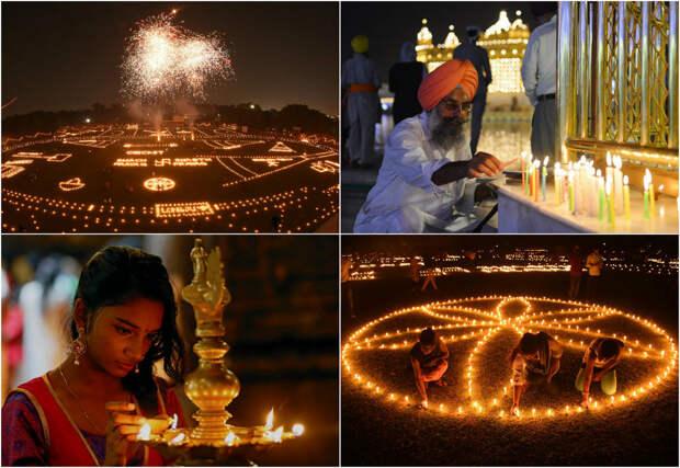 Как прошёл Фестиваль огней Дивали по всему миру