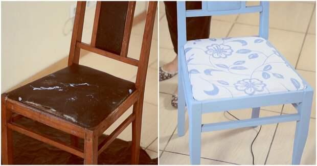 Из старого в новое: бюджетная реставрация старого стула