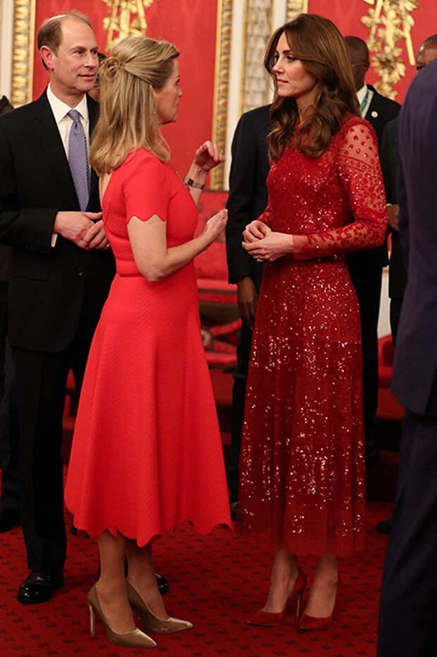 Кейт Миддлтон и принц Уильям провели торжественный прием в Букингемском дворце