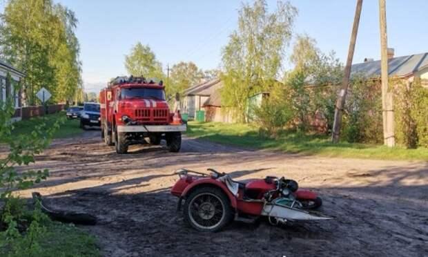 ВКотласе вДТП слесовозом серьёзно пострадал 18-летний мотоциклист