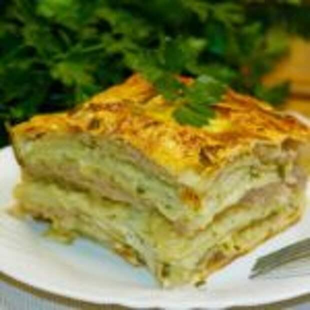 Сытный пирог из лаваша
