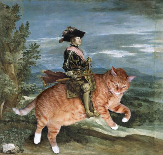 Филипп IV верхом на коте