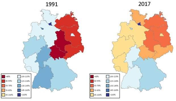 Последствия объединения Германии, распределение брендов и зомби-компании в США