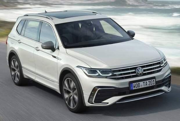 Семиместный Volkswagen Tiguan Allspace обновился снаружи и внутри