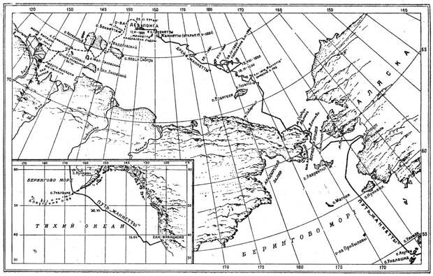 Карта экспедиции Де-Лонга. Источник: wikipedia.org