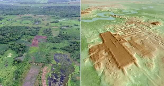 Обнаружено самое крупное и древнее сооружение цивилизации майя