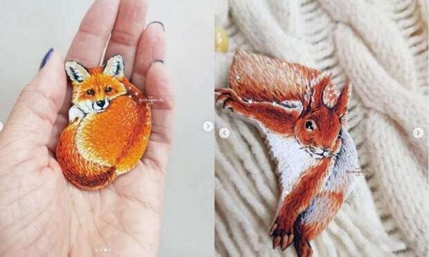Думаете, вышивать можно только нитками? Вовсе нет! Невероятные красивые работы мастерицы