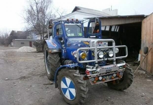 Когда ты очень любишь свои трактор… золотые руки, народный креатив, русский тюнинг