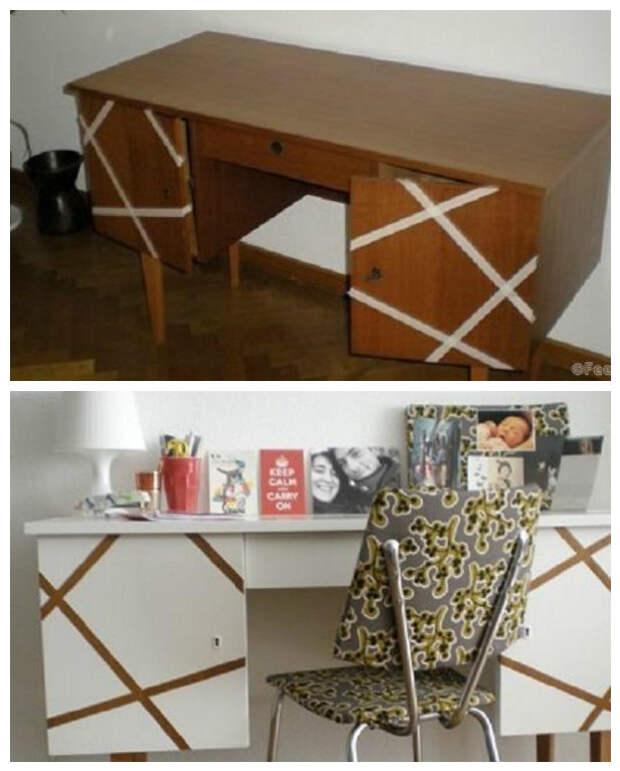 7. У всех были такие столы, только представьте, как легко их переделать под стиль вашего кабинета было стало, красиво, новая жизнь старых вещей, реставраторы, советская мебель