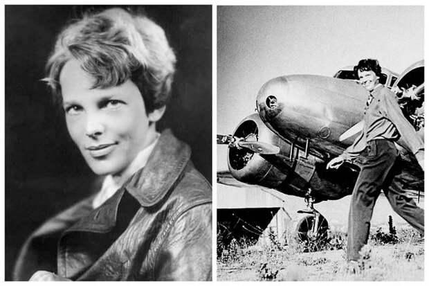 американская летчица Амелия Эрхарт