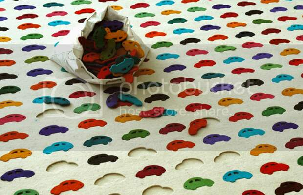 Вырубной ковёр из фетра