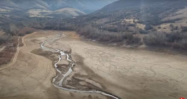 Аянское водохранилище под Симферополем превратилось в пустыню
