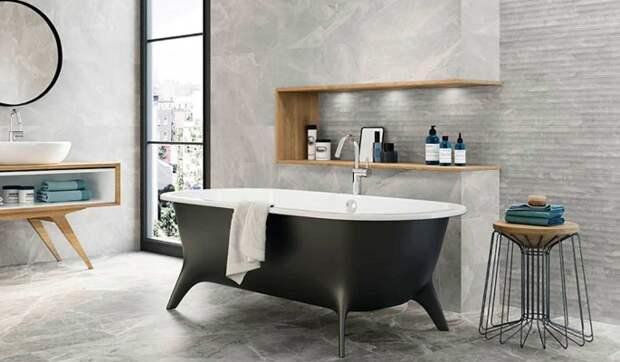 Необычная плитка для ванной: примеры эксклюзивного дизайна и текстуры