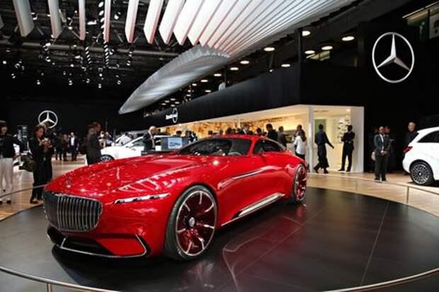 Самый красивый автомобиль Парижа: Vision Mercedes-Maybach 6 завоевывает сердца