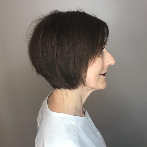 стрижки для женщин после 60 лет фото 13