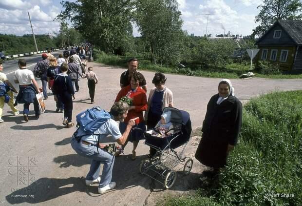 """Советско-американский """"Поход за Мир"""", Ленинград - Москва, 1987 год"""