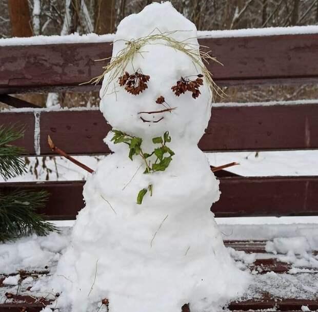 Фото дня: улыбчивый снеговик