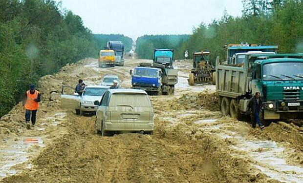 Женщина включила камеру и проехала по трассе Лена, которую называют самой грязной дорогой мира