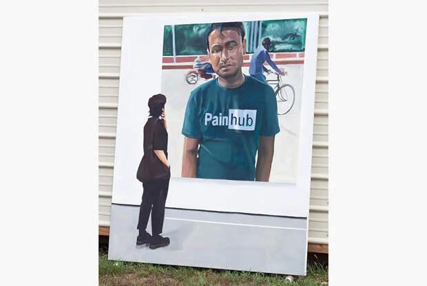 Художник Мауро Мартинес, бывший наркоман, который превращает мемы вкартины