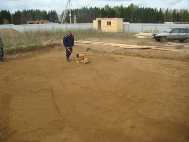 трамбовка песка