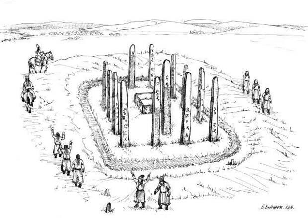 Археологи нашли погребальный комплекс с тюркскими руническими надписями