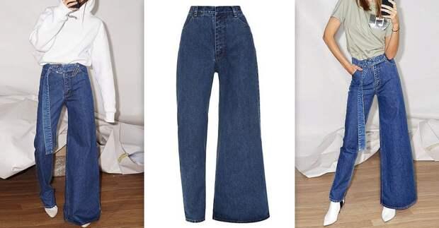 Дизайнер создает асимметричные джинсовые брюки, которые могут стать новым трендом