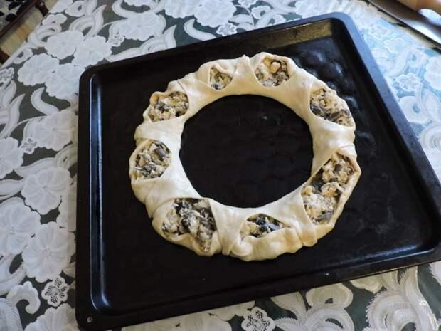 Пирог с грибами грибы, еда, пирог, сделай сам, фоничка