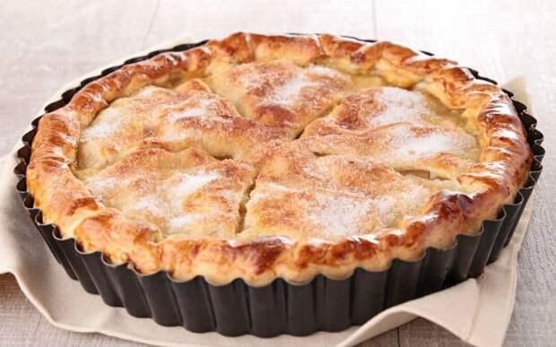 Американский яблочный пирог. Десерт из песочного теста с яблочной начинкой 2