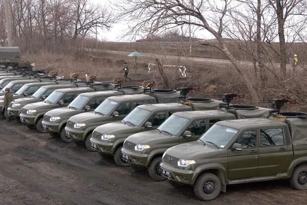 Мобильная рота ДНР получила внедорожники с пулеметами и ПТУР