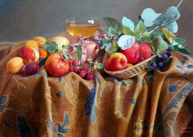 Художник Александр Саидов. Луч солнца в каждой грозди винограда