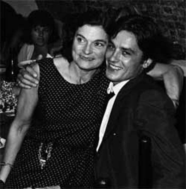 Ален Делон с матерью