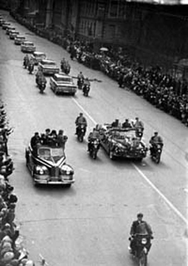 Москва встречает героев. 23 марта 1965 г.