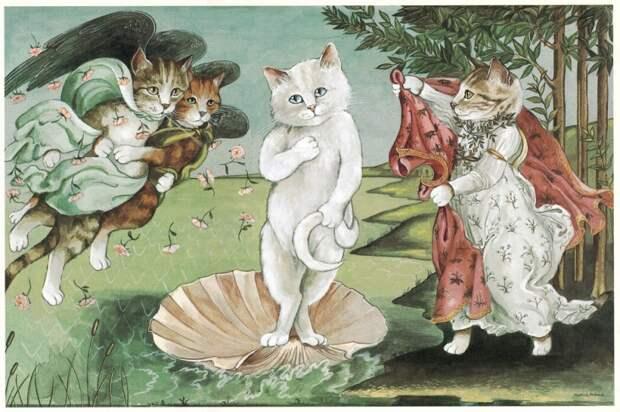 Коты помогут выяснить, насколько вы разбираетесь в живописи
