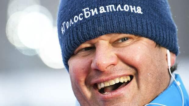 Губерниев назвал себя самым популярным биатлонистом в России