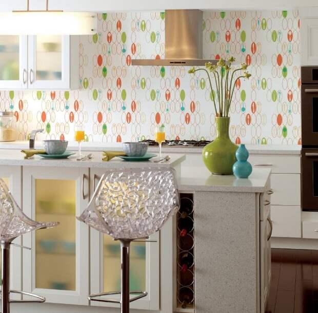 Как правильно подобрать обои на кухню: фото, популярные приемы и дизайнерские хитрости (34 фото)